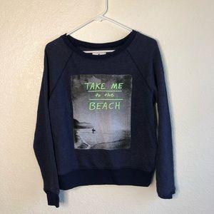 AE Take Me To The Beach Soft Sweatshirt XS